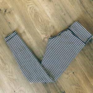 LULULEMON Organic cotton striped Wunder Under 6